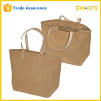 Zip Lock Eco Wholesale Cheap Reusable Wholesale Linen Jute Hand Bag For Shopping