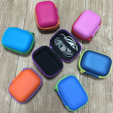 Fashion cute eva mini earphone Storage Carrying cases for USB Cable