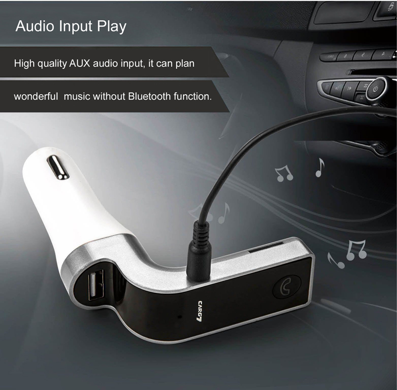 GXYKIT G7 4-in-1 CAR G7 BT FM Transmitter With USB Flash Drives TF Music Player BT Car kit USB Car charger