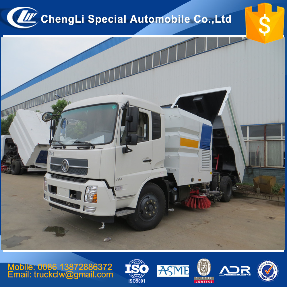 CN Quality Assurance 4x2 High Pressure Road washer Sweeper Truck Vacuum Street cleaning truck 16000 liters 16cbm