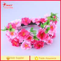 Handmade Floral Artificial Simulation Peony Flowers Garland Wreath for Home Party Decor Pink