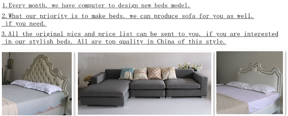 Shenzhen soft velvet fabric bed bedroom decor furniture of brief European style for hotel promote