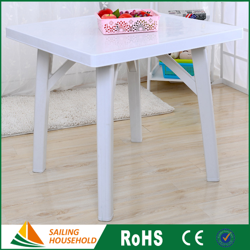Newest leisure ways patio furniture, cheap square plastic table, square chair and table