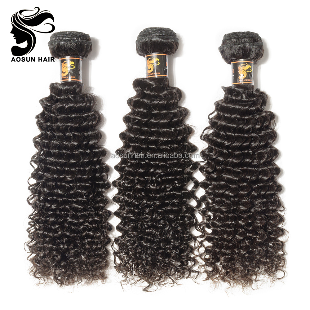 Peruvian Deep Curly Virgin Human Hair Best Wet And Wavy Human Hair Weave