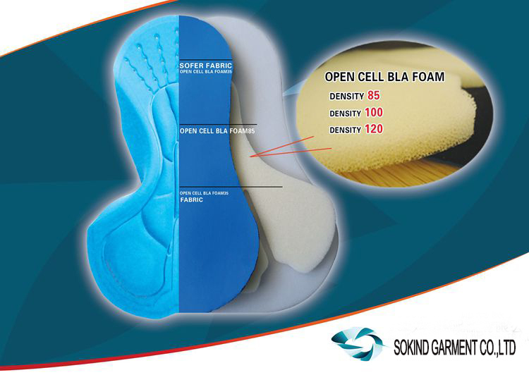 High Density 3D chamois coolmax cycling pad