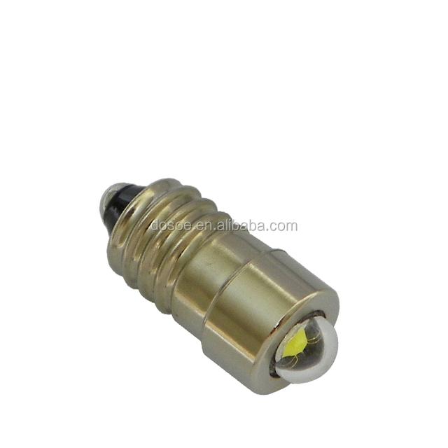 3 Watt,E10, 150~160 LM, rechargeable led emergency bulb/ energy saving bulb for 2-cell C or D (1.5V, 3V) maglite Flashlights