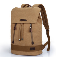 XINCADA 2015 Men Fashion Canvas Durable School Bag Campus Students Large Capacity Travel Laptop Backpack Teenager Boys Rucksack