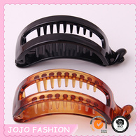 Cheap Eco-friendly Black Tortoise Large Plastic Banana Hair Claw Clip/