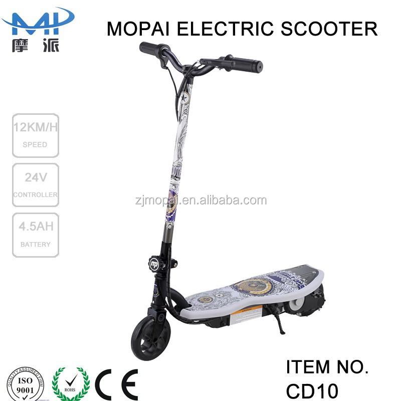 CE certification and 120w power kids pedal kick scooter 2 wheel electric standing scooter