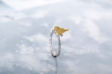 New Design!!! S925 Ring branches Birds ring