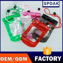 New design spdak brand with air inflation Dry Most Popular Promotional Mobile Phone Waterproof Bag For All kindy phone