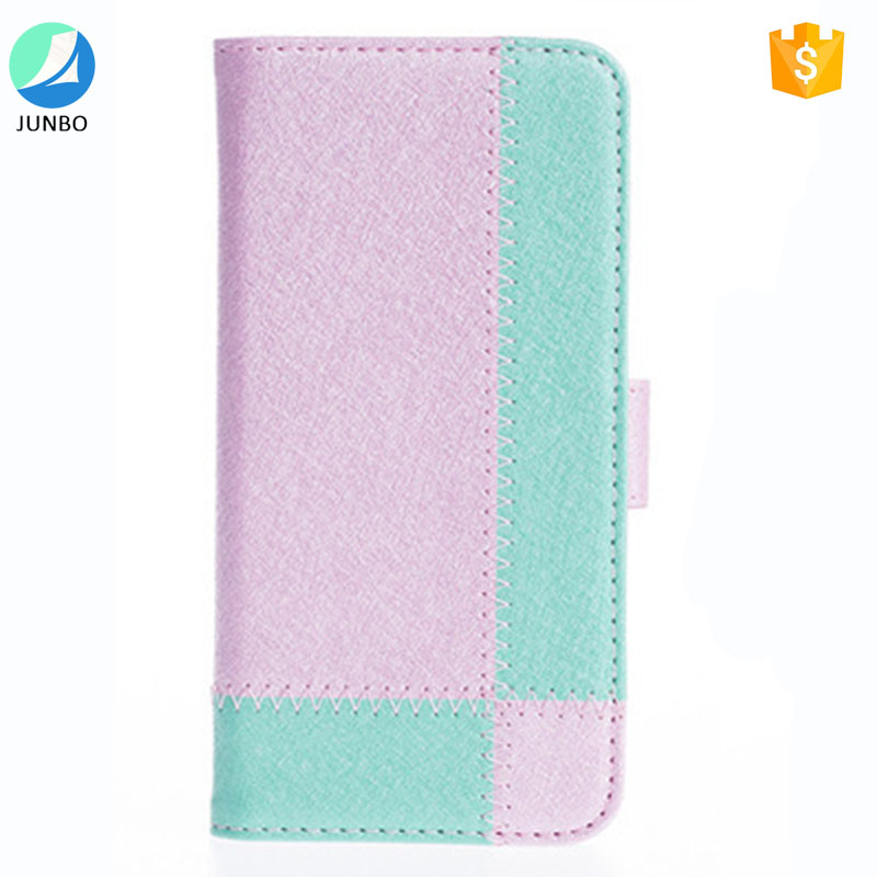wholesale leather case supplier for iphone 6 flip cover case