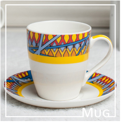 Personal Design Real Gold Printing Colorful Ceramic Mug