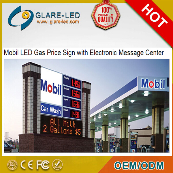 48/32inch Colombia/South Africa 8.888 digita LED price sign/display petrol station equipment