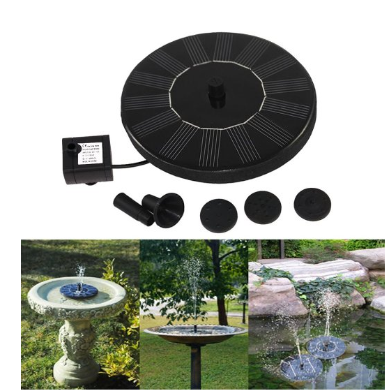 2017 Hot selling floating solar funtain 8v 1.4w mini Solar powered decorative Water Fountain pump with view 0814