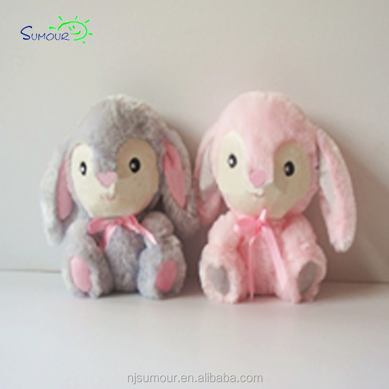 Solid reputation custom cute pink easter bunny plush stuffed toy rabbit wholesale