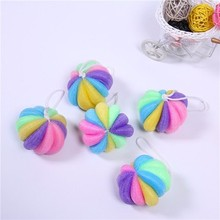 Factory hotsell product round shape bath sponge puff for shower