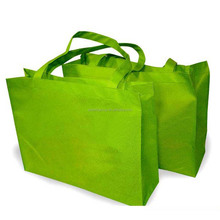 Eco-friendly Non Woven Fabric Green Color Non-woven Shopping Bag