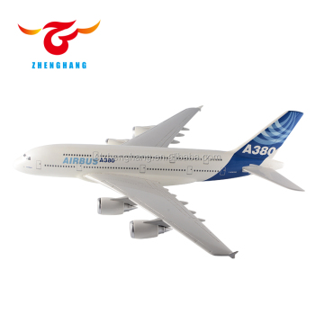 Airbus A380 airplane scale model with stand 37cm resin plane model
