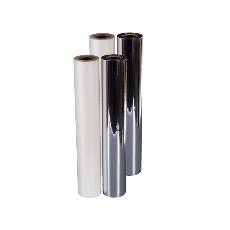silver cold laminating metallized polyester film 12 micron Pet/Pe