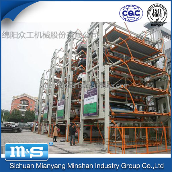 Minshan Vertical Rotary Auto Parking System, Garage Equipment