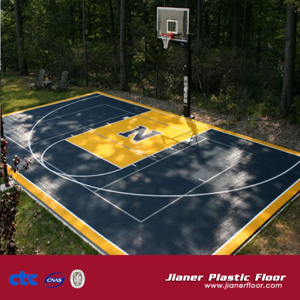 Jianer Floor Outdoor Basketball Plastic Flooring