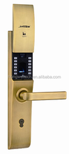 smart lock with lcd screen opened by fingerprint /code/key