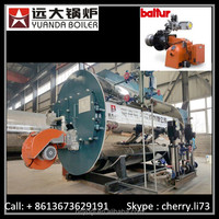 10 tons/h 1.25Mpa light oil fired steam boiler with fully accessory equipment