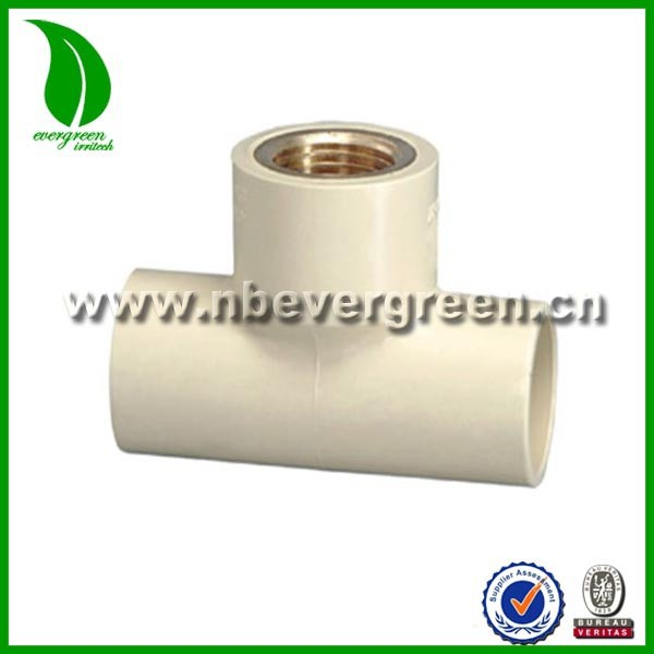 CPVC ASTM D2846 BRASS Insert THREADED FEMALE TEE