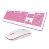 high quality quick delivery PC Custom Printed waterproof multimedia wireless keyboard and mouse combo