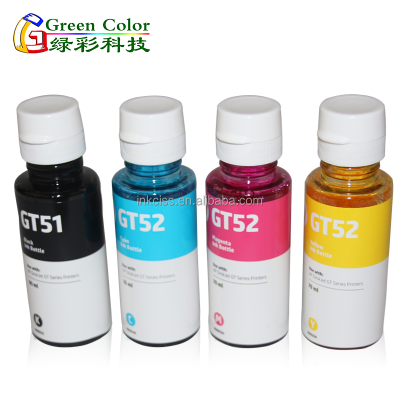 GT52 New arrival & new design water based refill dye ink for HP GT5810 GT5820 ink tank printer