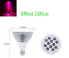 New LED Grow Light 12W E27 AC85-265V Bulb lamps 9Red 3Blue Energy Saving Growth lamp for Flowering Plant and Hydroponics