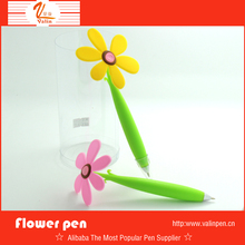Cute sunflower pvc stand desk ball pen