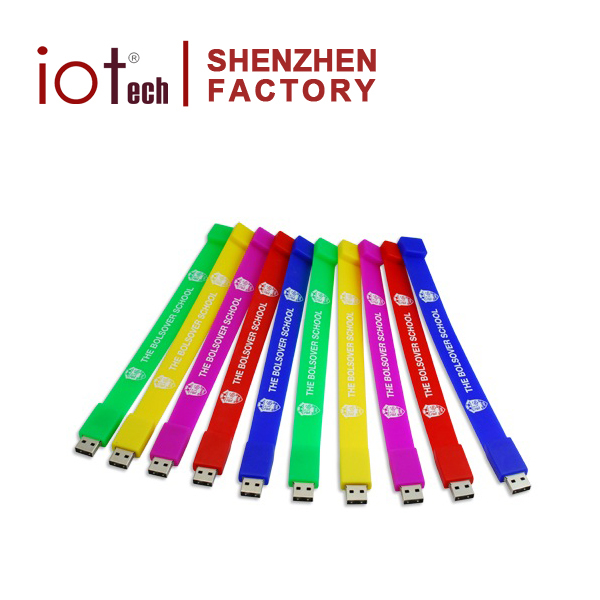 Hot Selling Silicone Bracelet with logo USB Flash drive 32gb 64gb Memory Stick Made in China