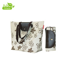Customized high quality foldable canvas storage bag with two zipper