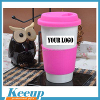 2015 Hot sale newest promotional coffee mug with lid,logo can be customized to imprimted on