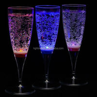 Factory sale Romantic liquid active led Beer Glass