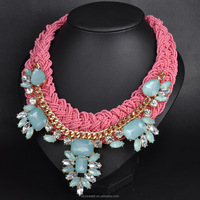 latest design beads necklace big necklaces yiwu imitation jewellery(SWTAA2618)