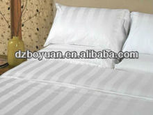 hot sale fabric polyester cotton blend cvc 50/50 white satin stripe fabric for hospital bedsheet