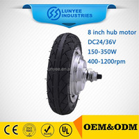 Electric car wheel electric motor
