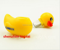 Lovely Yellow Ducky Model Storage 8GB 16GB 32GB USB 2.0 Flash Drive Memory Stick Thumb Pen Drive