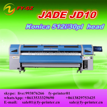 3.2M digital flex banner outdoor/indoor solvent printing machine JADE JD10