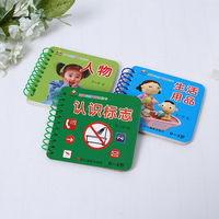 High quality colorful Pre-school book kids easy cartoon to recognized english puzzled book