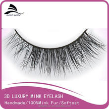 super quality 100% real siberian mink fur free fake eyelashes