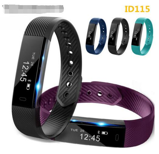 ID115 fitness tracker smart bracelet Step Counter Activity Monitor Band Alarm Clock Vibration Wristband for iphone Android phone