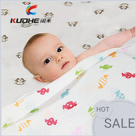 doubled jersey super soft baby muslin swaddle blanket