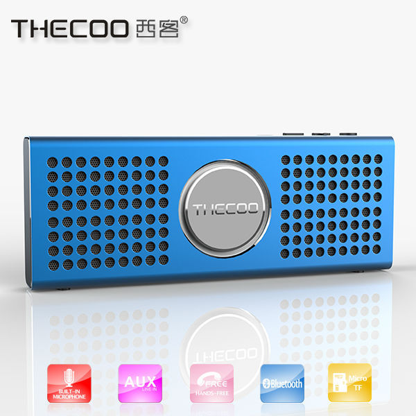 All metal digital audio speaker of bluetooth, aluminium bluetooth speaker built-in TF card music player
