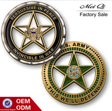 Custom Star Cut-out Challenge Coin, Hard Enamel Craft Coin as Promotional Gifts (Factory Outlet)