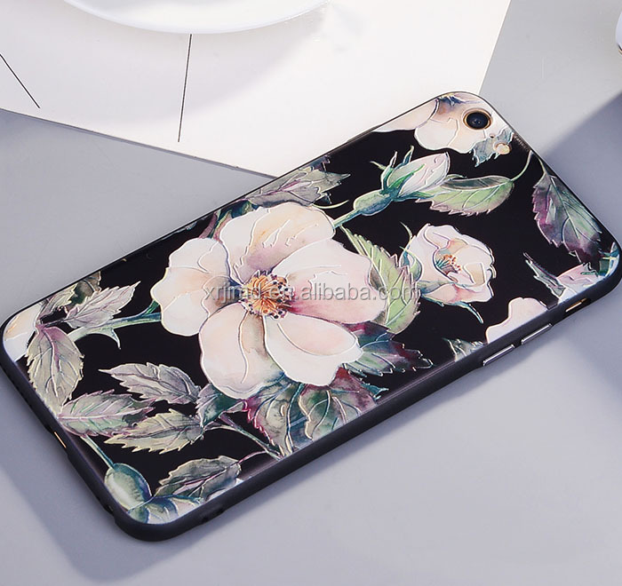 Colorful Flowers and Animals colored drawing printing phone case cover, and IMD TPU moblie cell phone case for iPhone 6/7