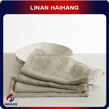 Best quality bacteriostatic microfiber hotel yarn dyed linen cotton tea towel, Bohemian style cleaning cloth,35*35 cm